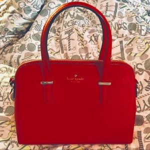 Authentic kate spade bright red satchel